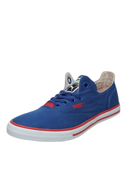 Buy Puma Limnos CAT 3 DP Blue   Red Sneakers for Women at Best Price   Tata  CLiQ 78724ae87