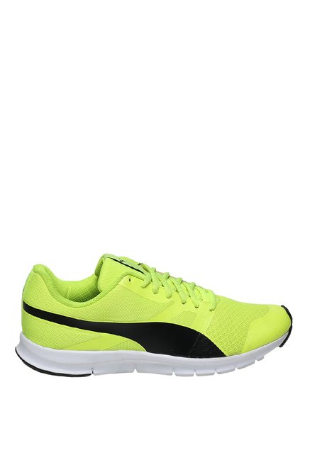 de48813f98 Buy Puma Flexracer DP Lime Yellow & Black Running Shoes for Men at ...