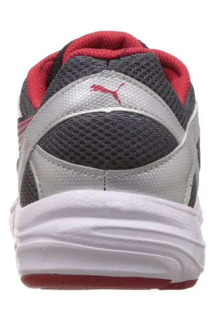 Buy Puma Axis III DP Silver   Red Running Shoes for Men at Best ... c8396295ac