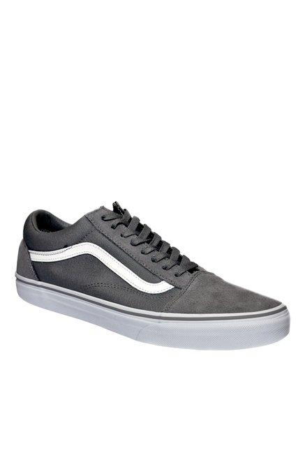 9d24762a35fa82 Buy Vans Old Skool Frost Grey   True White Sneakers for Men at Best ...