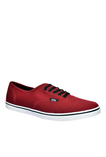 4f09cd0151293b Buy Vans Authentic Lo Pro Foxing Red   White Sneakers for Men at ...