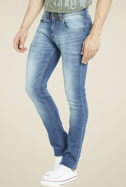 Globus Blue Regular Fit Cotton Jeans
