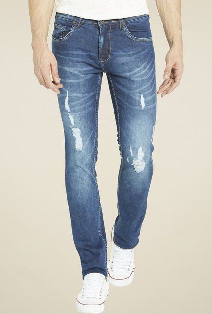 Globus Blue Regular Fit Mid Rise Jeans