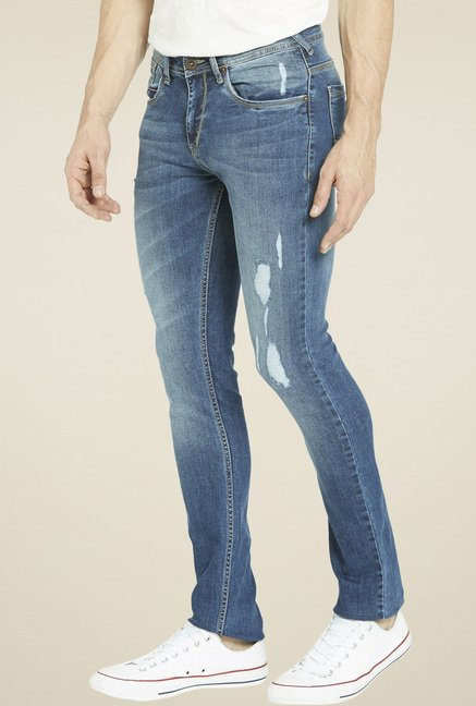 Globus Steel Blue Regular Fit Jeans