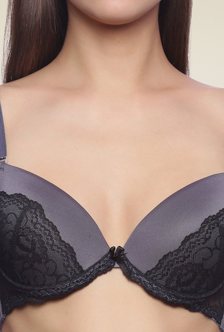Zivame Grey Full Coverage Padded Bra