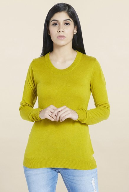 Globus Lime Solid Sweater