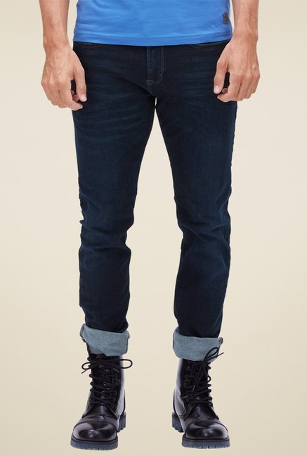 s.Oliver Dark Blue Mid Rise Jeans