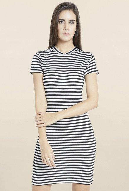 Globus Black & White Striped Dress