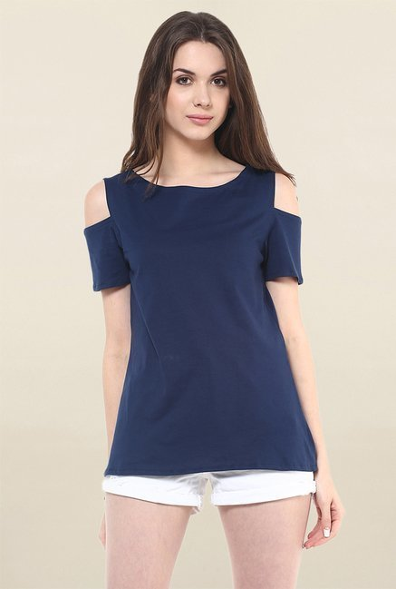 Pannkh Navy Solid Top