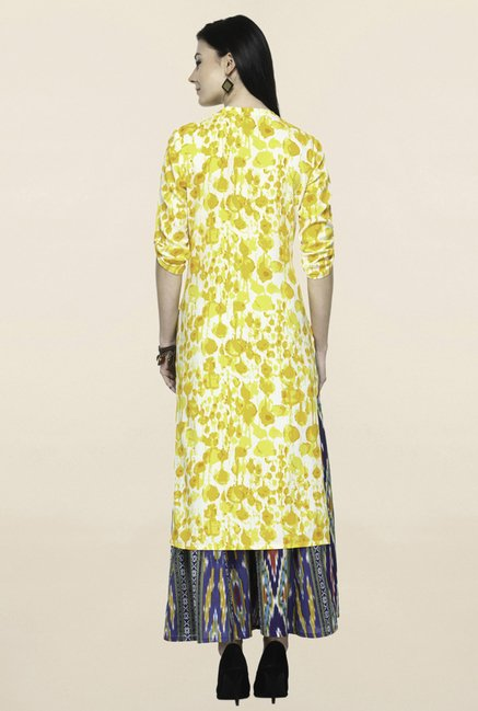 Varanga Yellow Printed Kurta With Palazzo