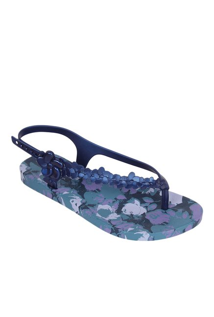 8d54620a29a Buy Ipanema Premium Flowers Navy   Lilac Back Strap Sandals for Women at  Best Price   Tata CLiQ