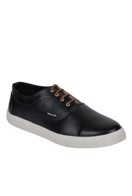 Wega Life Trait Black Oxford Shoes