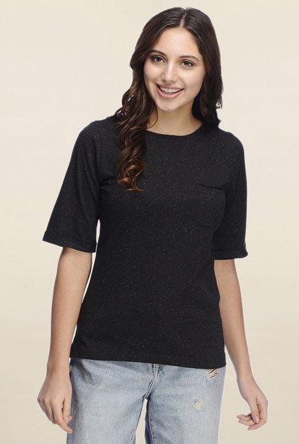 Rigo Black Textured T Shirt