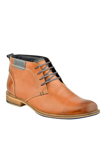e7fb4034ce8 Buy Lee Cooper Tan Derby Boots for Men at Best Price   Tata CLiQ