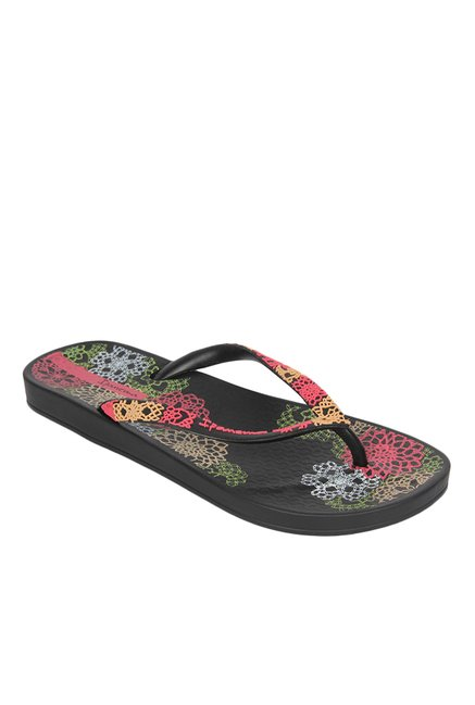 6d3846e7b00 Buy Ipanema Anat Lovely IV Black & Pink Flip Flops for Women at Best Price  @ Tata CLiQ