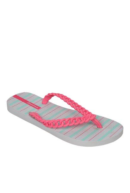 8d9cd5642f69 Buy Ipanema Neon Pink   Grey Flip Flops for Women at Best Price ...