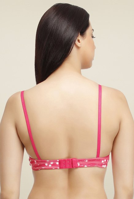 a8be2b053 Buy Clovia Hot Pink Padded Printed Bra for Women Online   Tata CLiQ