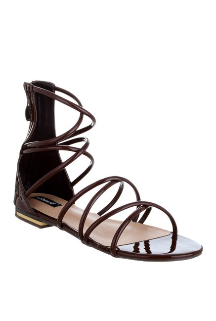 b397eb9eca4 Buy Sherrif Shoes Dark Brown Gladiator Sandals for Women at Best ...