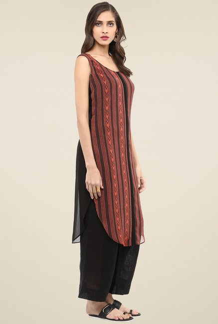 Pannkh Brown Regular Fit Kurta