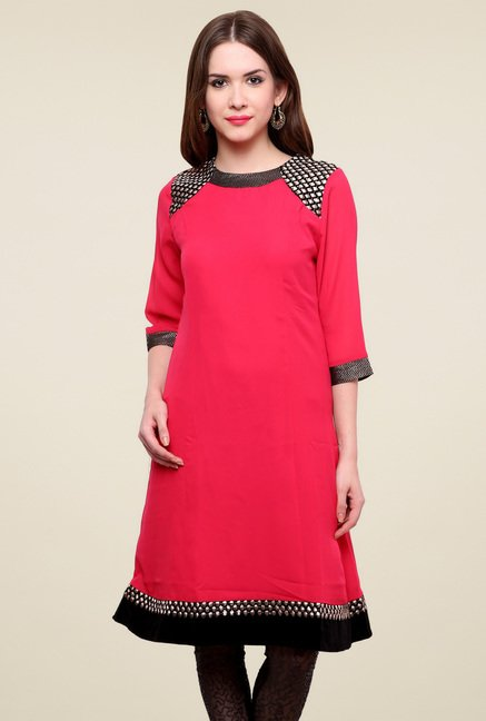 Pannkh Pink Regular Fit Kurti