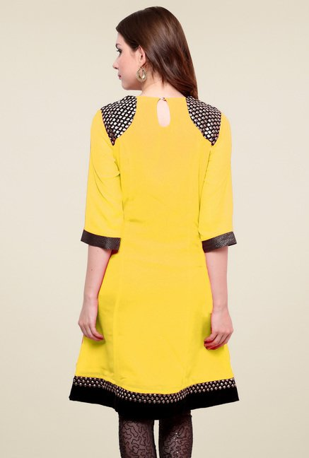 Pannkh Yellow Regular Fit Kurti
