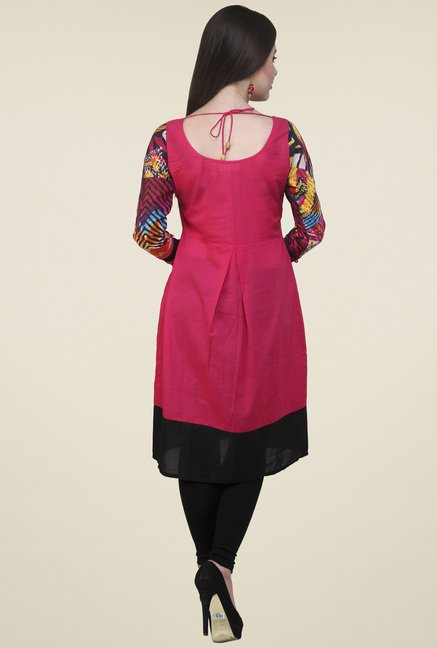Pannkh Dark Pink Cotton Kurti