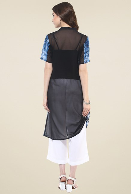 Pannkh Blue Regular Fit Kurti