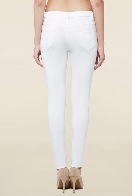 AND White Raw Denim Jeans