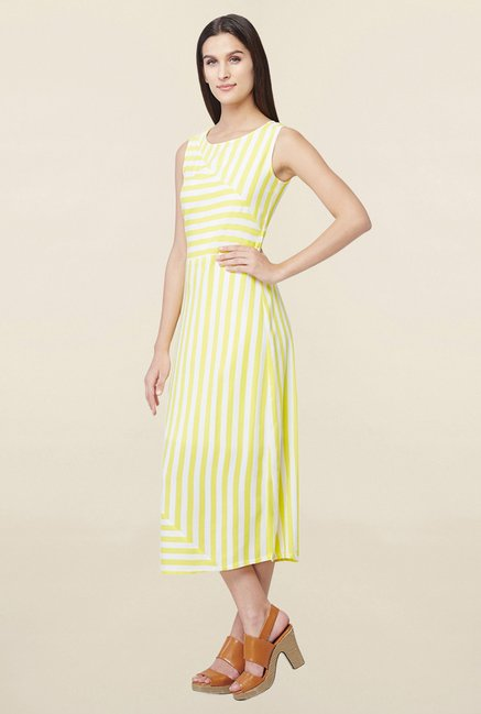 AND Yellow & White Striped Dress
