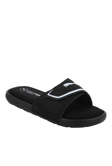 50659767b66a Buy Puma Starcat Sfoam Black   White Casual Sandals for Men at ...