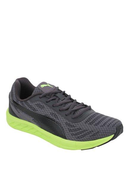 0fcac0200ec Buy Puma Meteor IDP Grey   Green Training Shoes for Men at Best Price    Tata CLiQ