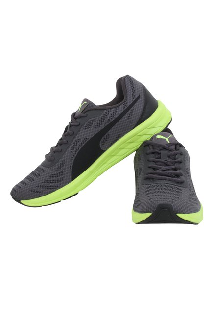 9e9113c73ba Buy Puma Meteor IDP Grey   Green Training Shoes for Men at Best ...