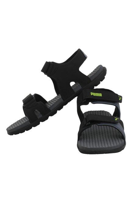 47c6f12d0e65 Buy Puma Comet IPD Black   Grey Floater Sandals for Men at Best ...