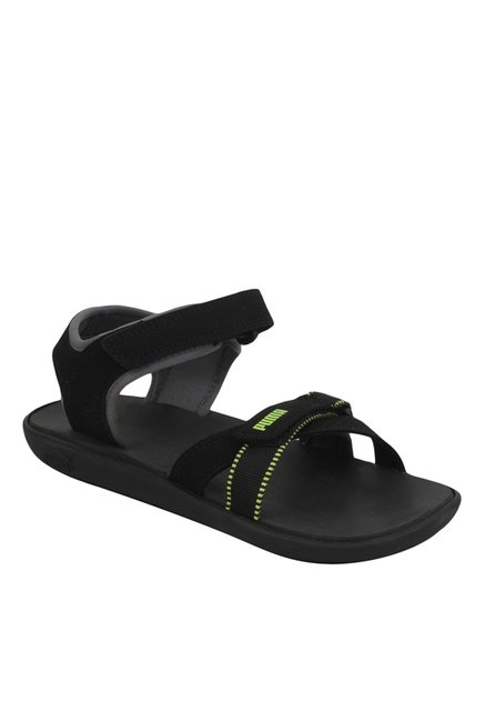 9293bd342ab7d Buy Puma Pebble IDP Black Floater Sandals for Men at Best Price   Tata CLiQ