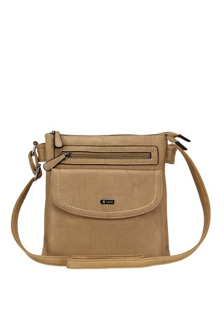 0c3bedbf825 Buy Lavie Trim Beige Solid Sling Bag For Women At Best Price   Tata CLiQ