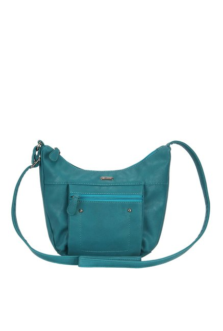 1cc6246696a Buy Lavie Windsor Csb Teal Blue Solid Sling Bag For Women At Best Price    Tata CLiQ