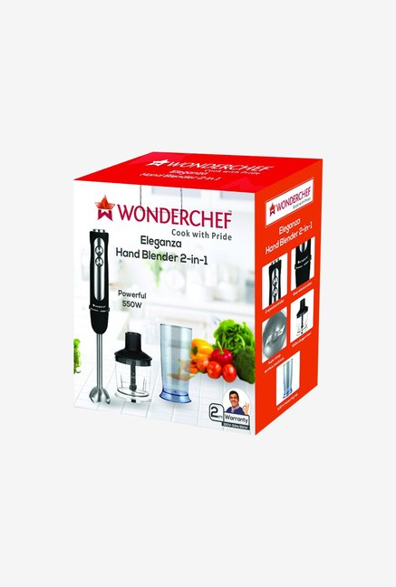 Wonderchef Eleganza 550 W 2-in-1 Hand Blender (Black/Silver)