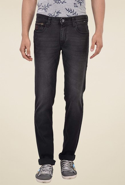 Blue Buddha Black Denim Mid Rise Jeans