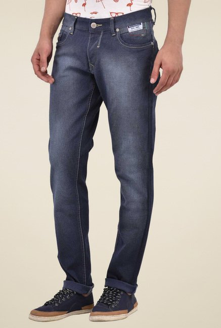 Blue Buddha Navy Mid Rise Jeans