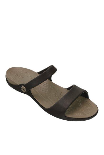 f6a59df9d59d Buy Crocs Cleo V Espresso   Mushroom Casual Sandals for Women ...