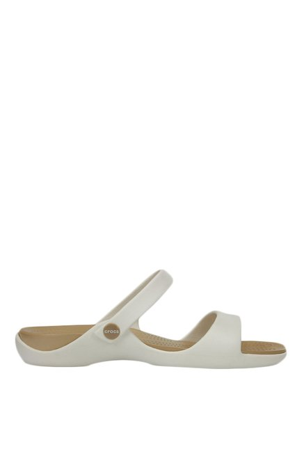 063572cb189b Buy Crocs Cleo V Oyster   Golden Casual Sandals for Women at Best ...