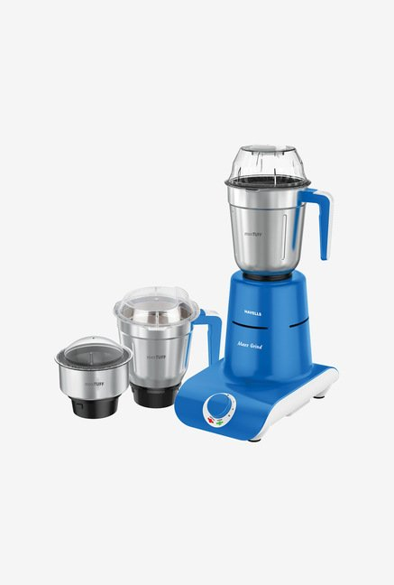 Havells Maxx Grind 750W 3 Jars Mixer Grinder (Blue)
