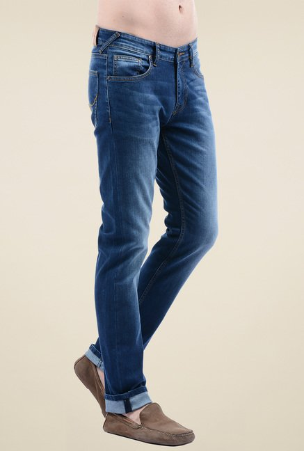 Pepe Jeans Blue Mid Rise Slim Fit Jeans
