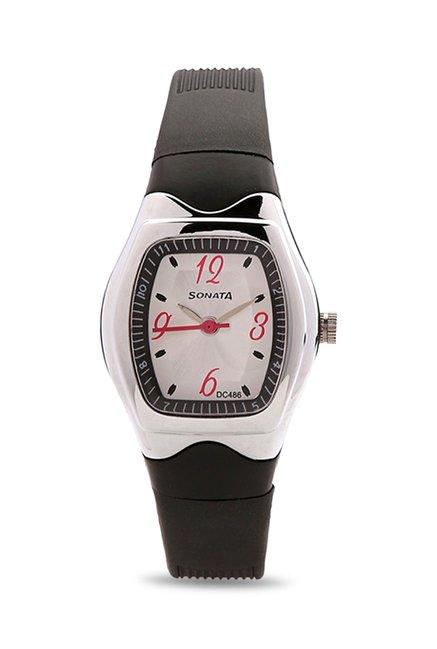 Sonata Analog White Dial Women's Watch, 8989PP03