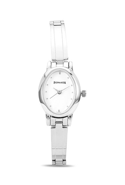 Sonata 8100SM01C Analog White Dial Women's Watch (8100SM01C)