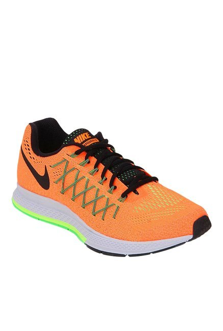 875b56e6338fd1 Buy Nike Air Zoom Pegasus 32 Orange   Green Running Shoes for Men at Best  Price   Tata CLiQ