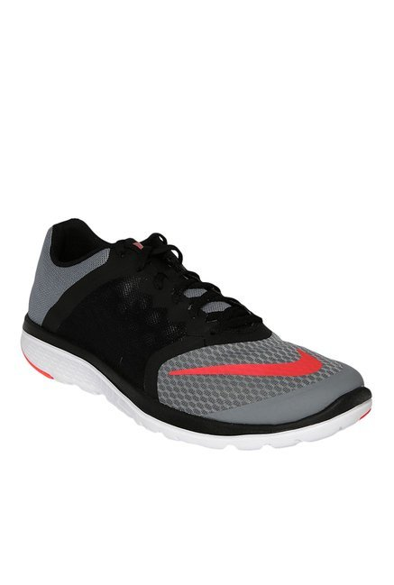 ddb3b265c96 Buy Nike FS Lite Run 3 Grey   Black Running Shoes for Men at Best Price    Tata CLiQ
