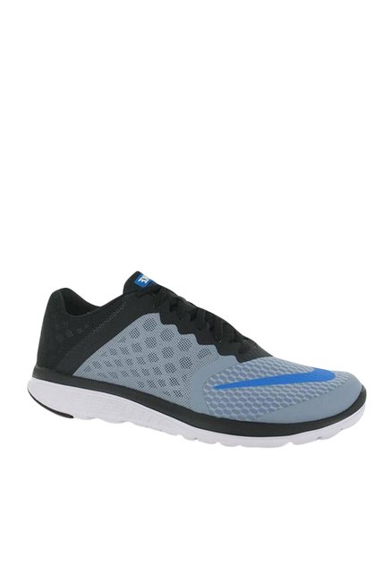 28916d227df Buy Nike FS Lite Run 3 Grey   Black Running Shoes for Men at Best ...
