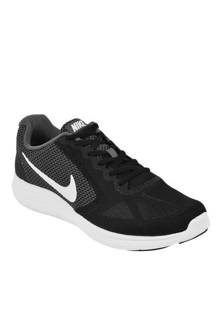 Nike Revolution 3 Black & Grey Running Shoes