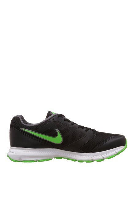 f09d7e58371c3 Buy Nike Downshifter 6 MSL Black   Green Running Shoes for Men at ...
